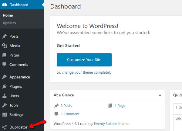 duplicator wordpress
