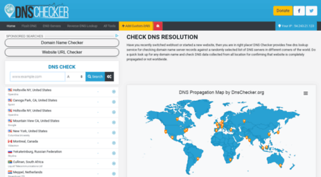 DNS Checker Lookup