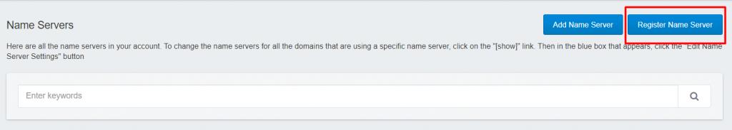 Register Name Server in Dynadot