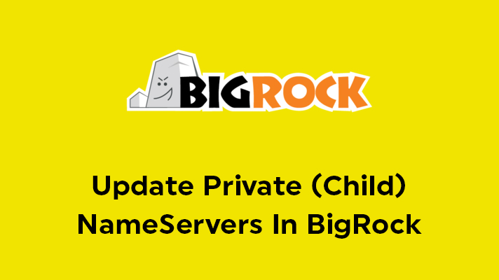 Update Private NameServers In Bigrock