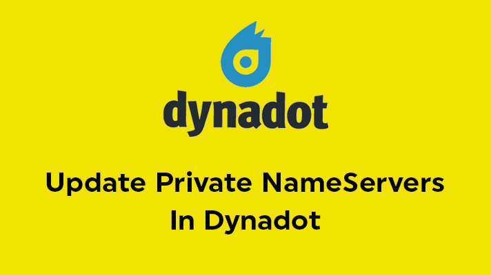 Update Private NameServers In Dynadot