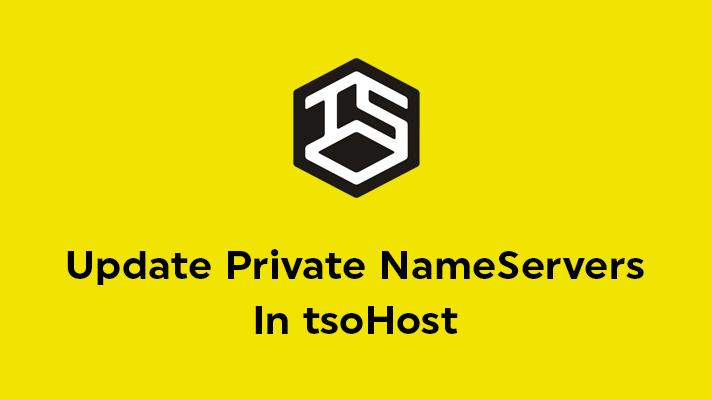Update Private NameServers In tsoHost