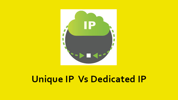 Difference between Unique and Dedicated IP