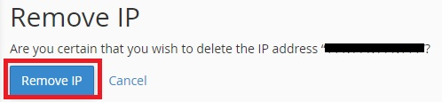 Removing an IP