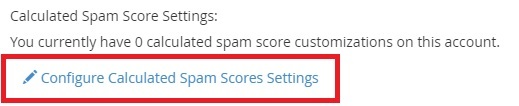 Configuring Calculated scores of email