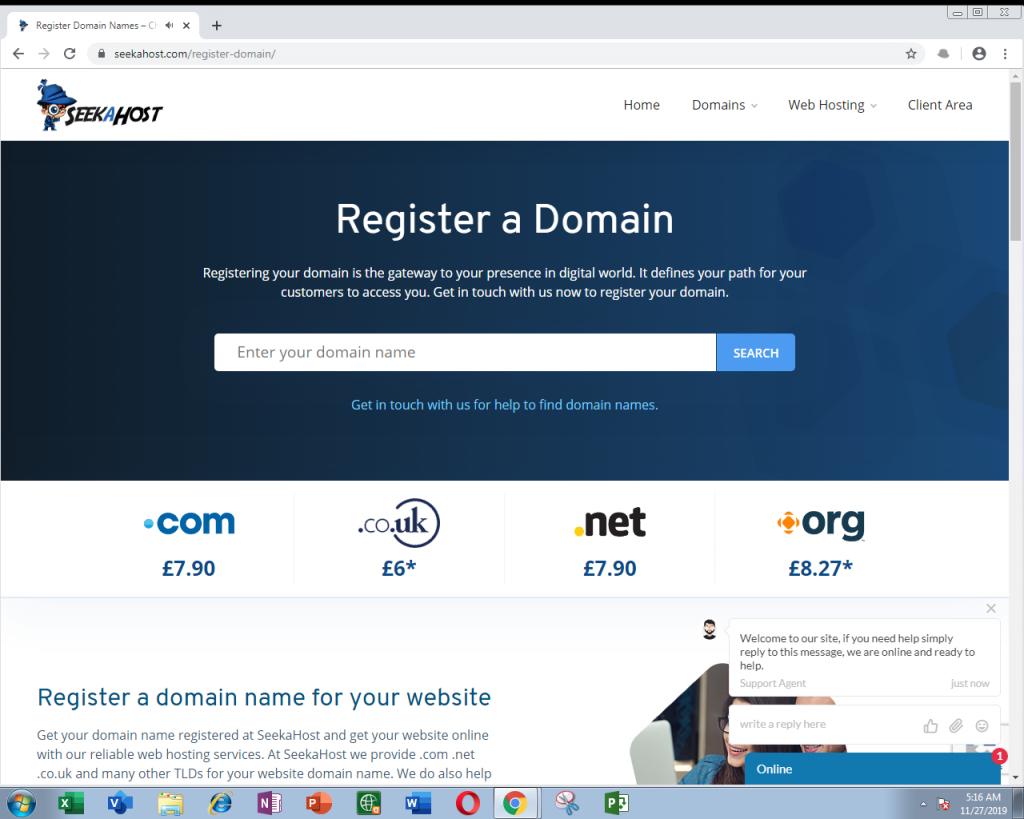 SeekaHost Domain Registration