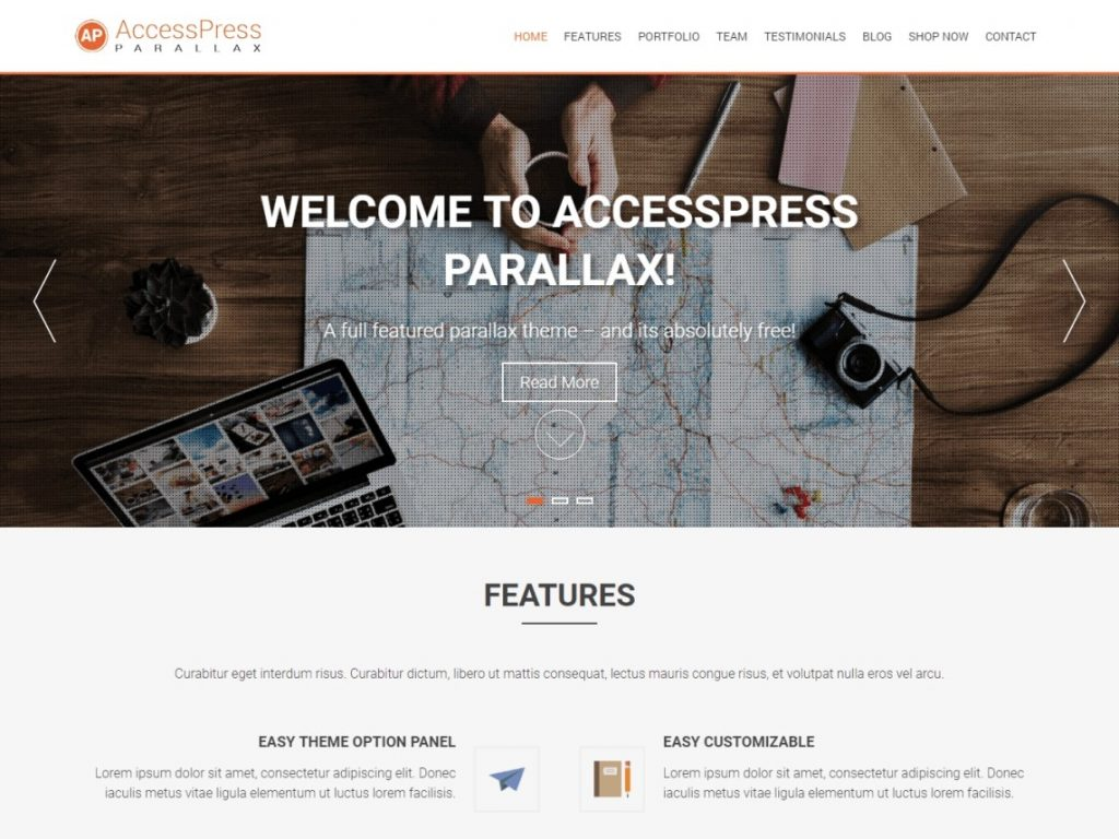 AccessPress Parallax Free WordPress Theme