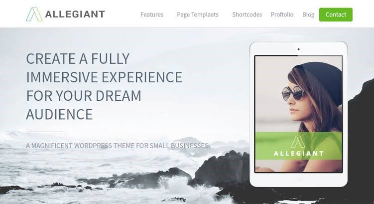 Allegiant - WordPress Themes for Free