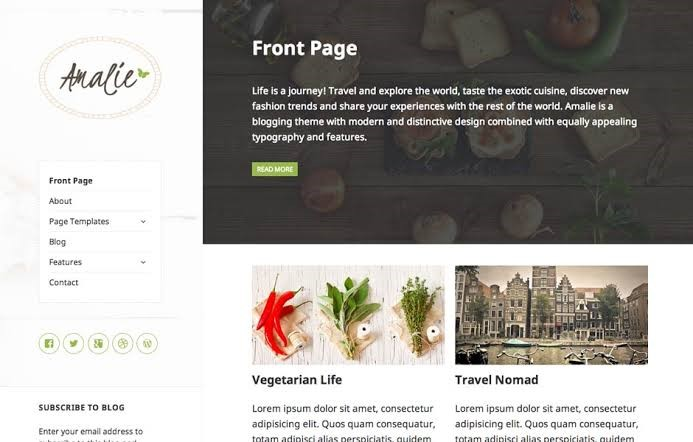 Amalie Lite WordPress Theme