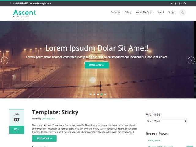 Ascend WordPress Theme for Free