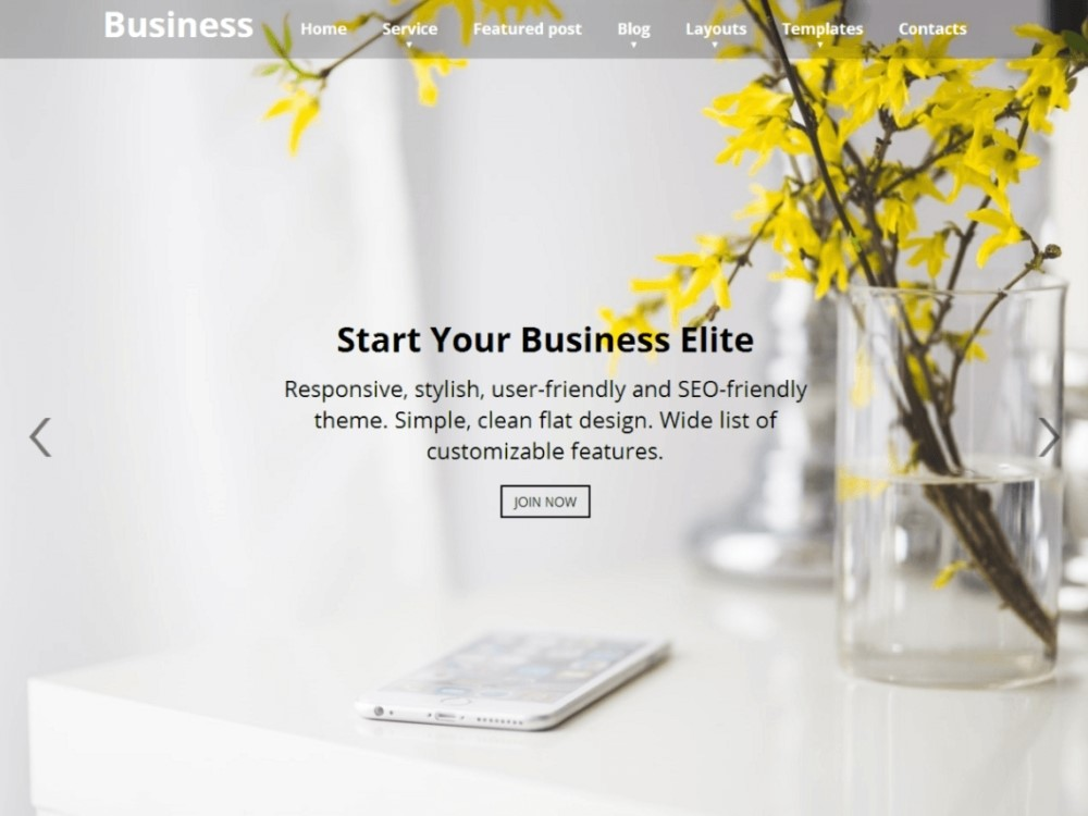 Business Elite Free WordPress Theme
