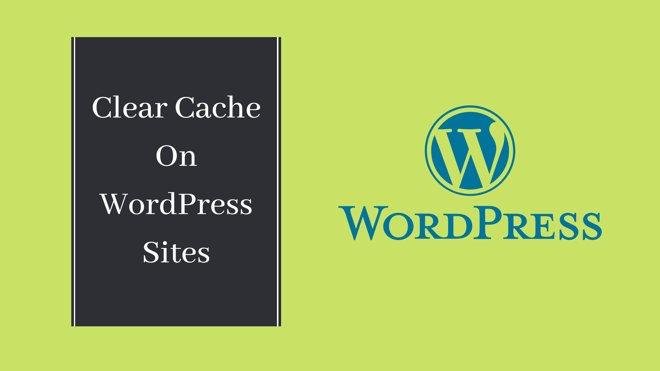 Clear cache on WordPress site
