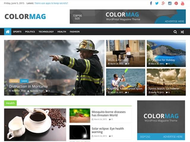 Colormag - NewsPaper Style WordPress Free Theme
