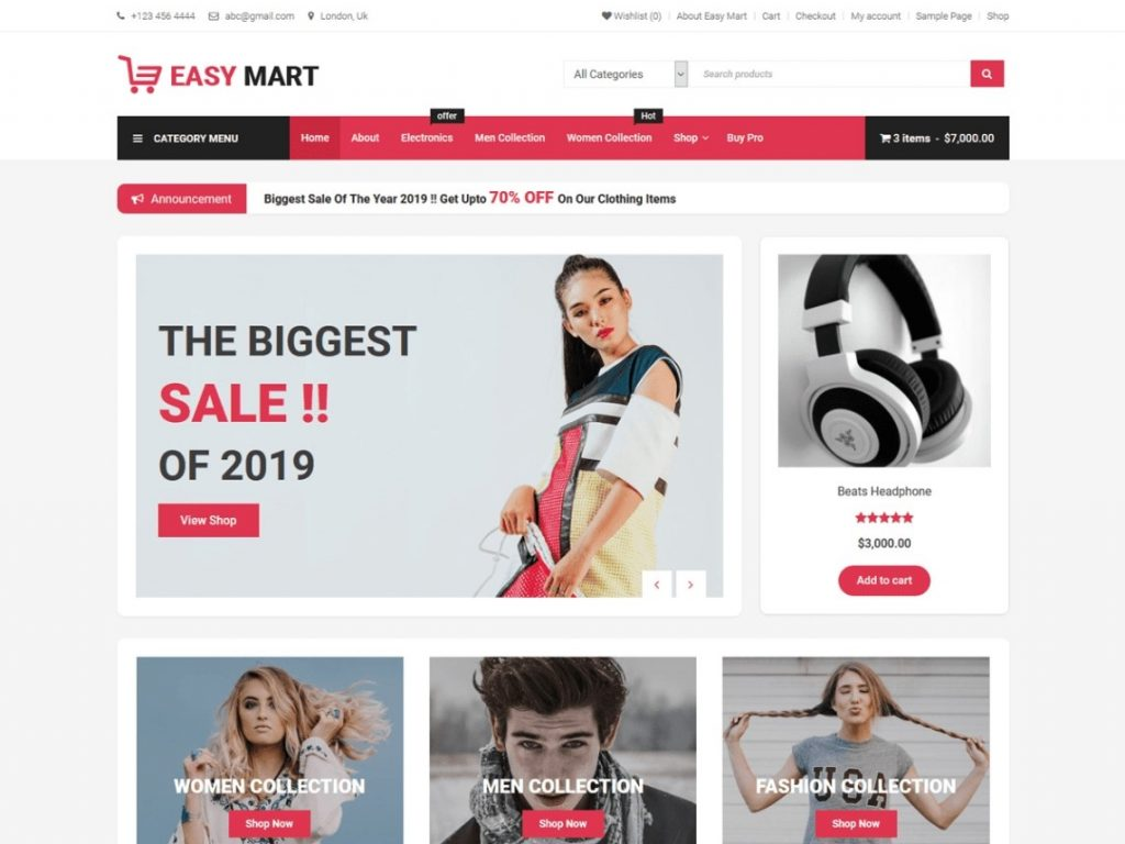 Easy Mart - WordPress Free Theme