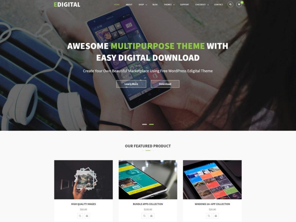 Edigital - Multipurpose WordPress Theme For Free