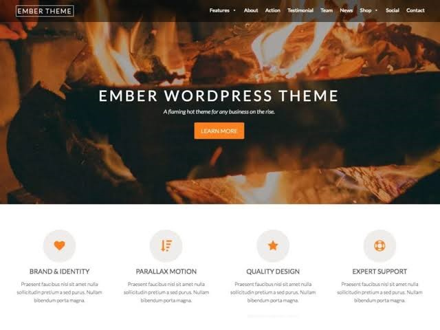 Ember WordPress Theme