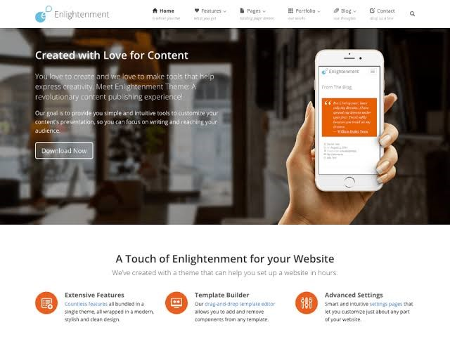 Enlightment Free Theme