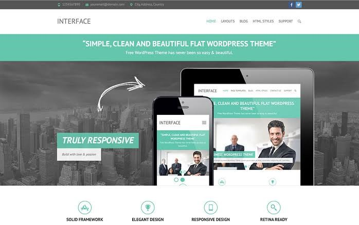 Flat Portfolio WordPress Theme For Free