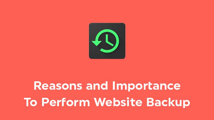 Importance of website backup