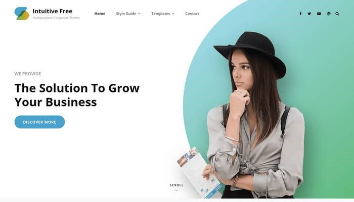 Intuitive Free WordPress Theme