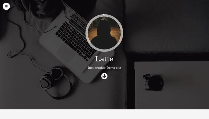 Latte One Page Free Themes