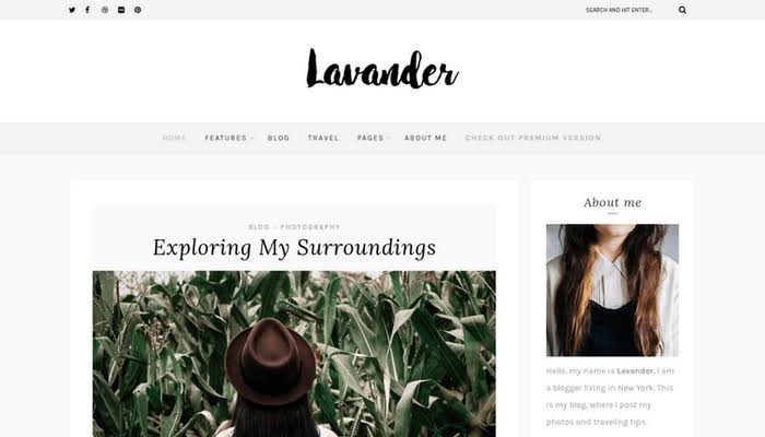 Lavender Lite - Free Theme for lifestyle