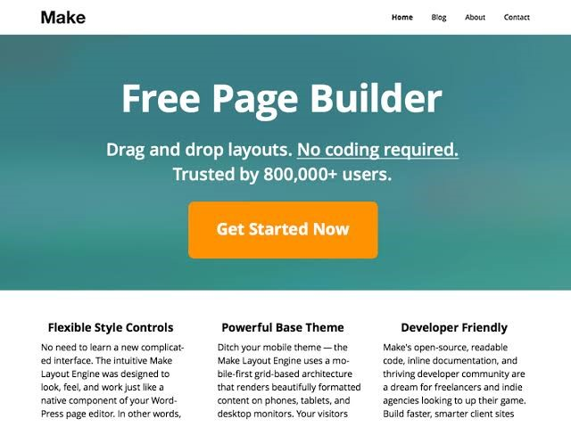 Make Free Page Builder WordPress
