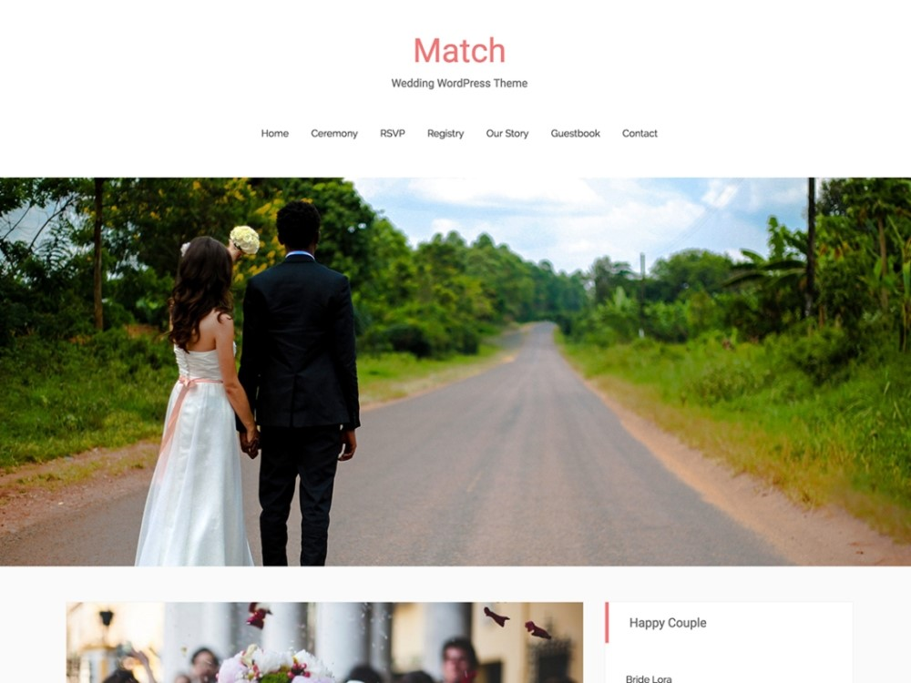 Match Wedding Theme