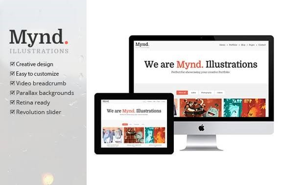 Mynd - Free WordPress Theme