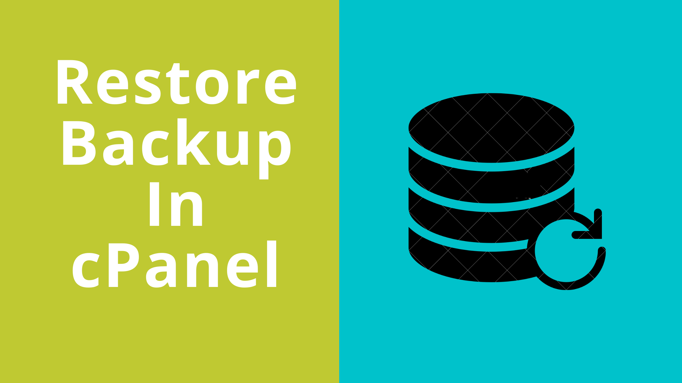 Restore Backup in cPanel