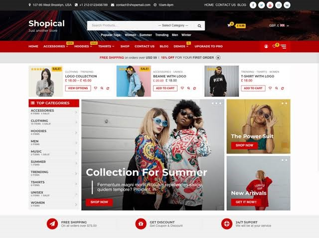 Shopical Free WordPress Theme