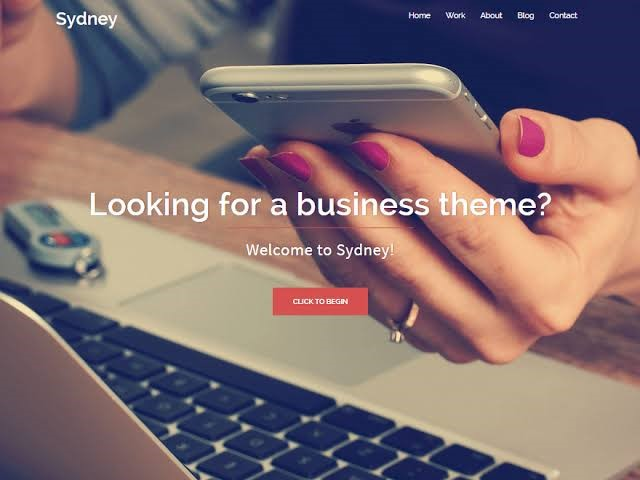 Sydney - Free Business WordPress Theme