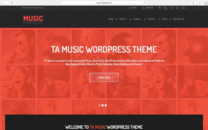TA Music - WordPress Theme