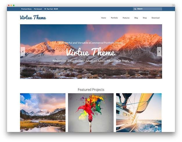 Virtue Theme Free For WordPress