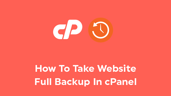Website Full Backup In cPanel