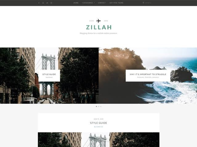 Zillah Themes For WordPress