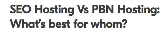seo hosting vs pbn hosting