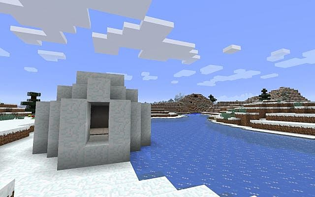 Igloo And Winter Forest
