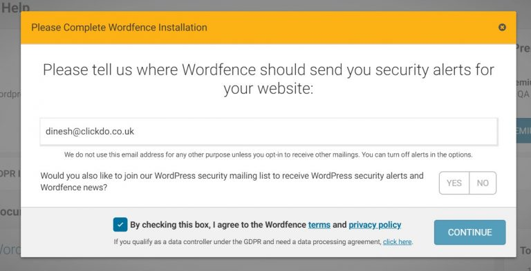 Adding-Email-Id-to-Wordfence-Security-Plugin