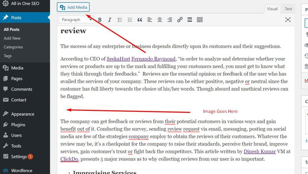 Adding Media in WordPress Post