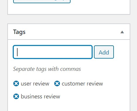 Adding tags in Blog Post