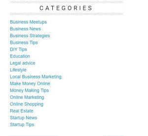 Categories in UK Business Blog
