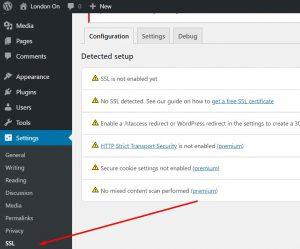 Configuring the SSL