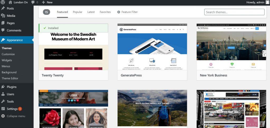 Customizable Themes in WordPress
