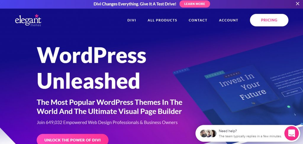 Elegant Theme – Paid WordPress Theme
