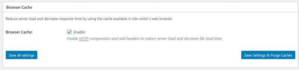 Enabling the Browser Cache in W3 Total Cache Plugin on www.londonon.org