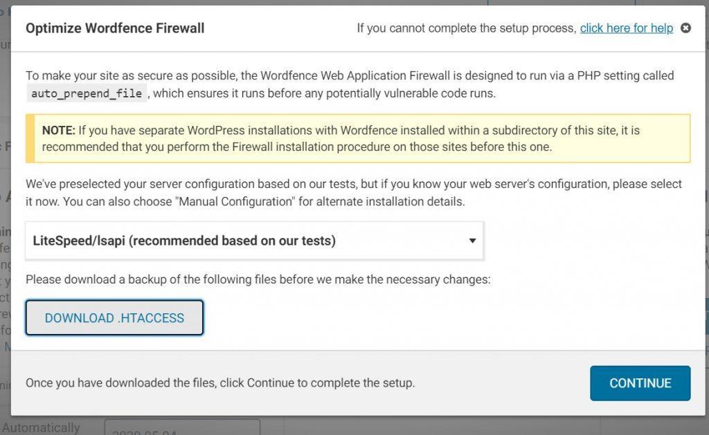 Optimize Wordfence Firewall 1