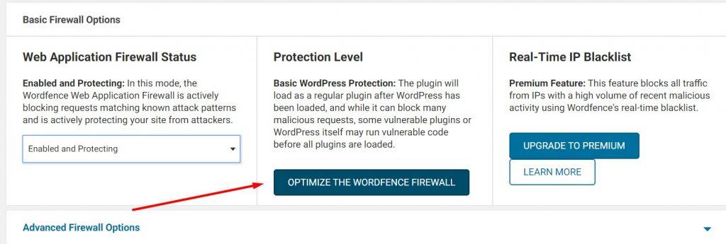 Optimize Wordfence Firewall