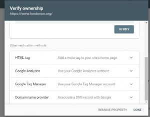 Ownership Verification Methods in Search Console
