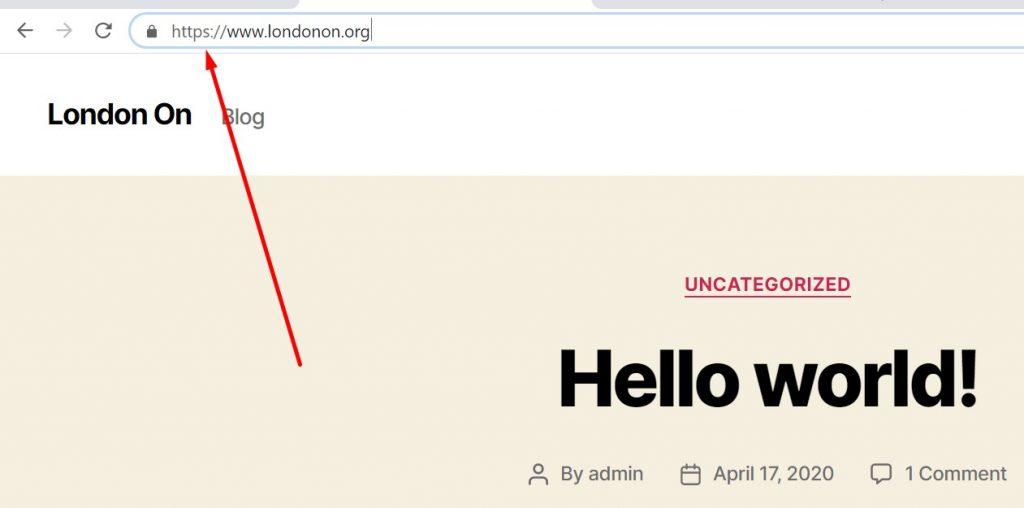 SSL Installed in www.londonon.org